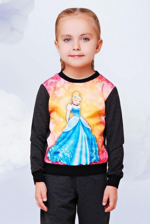 """Кофта-свитшот детская с принцессой - """"Kids"""" KF-079"""