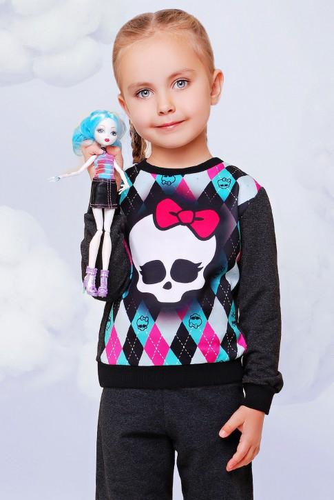 "Детский свитшот Monster High - ""Kids"" KF-082"