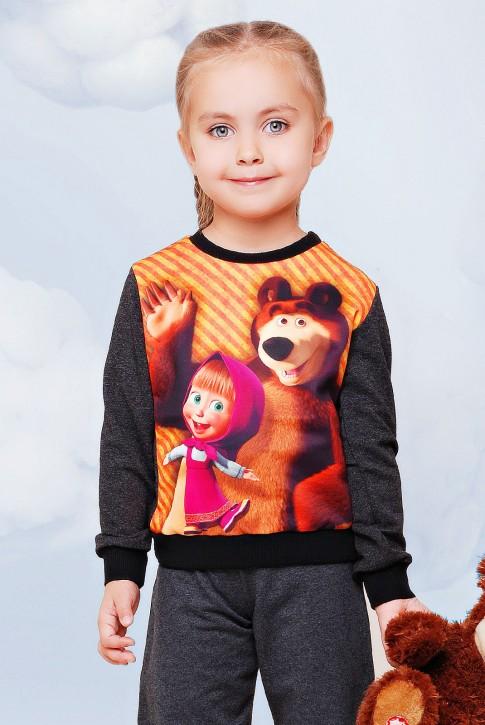 """Свитшот """"Kids"""" KF-083, Маша и медведь принт"""