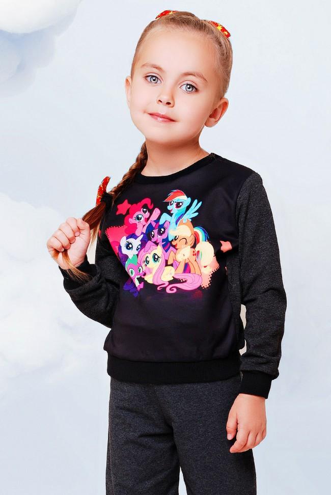 "Свитшот ""Kids"" KF-085, Little Pony принт"