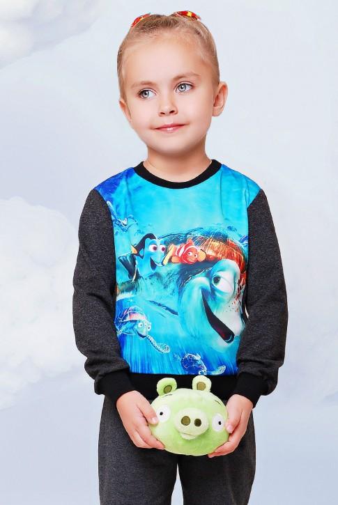 """Свитшот """"Kids"""" KF-088, Nemo принт"""