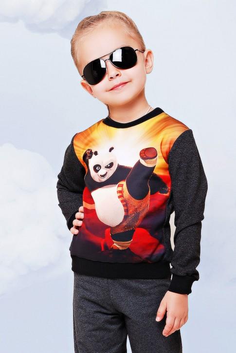 """Свитшот """"Kids"""" KF-091, Кунг-фу панда принт"""