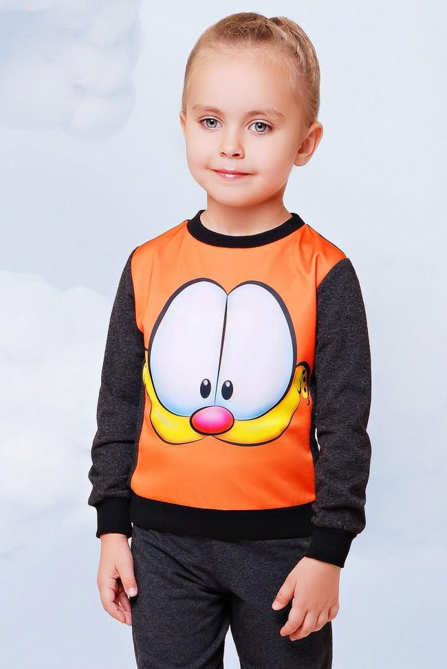 "Свитшот ""Kids"" KF-093, Garfield принт"