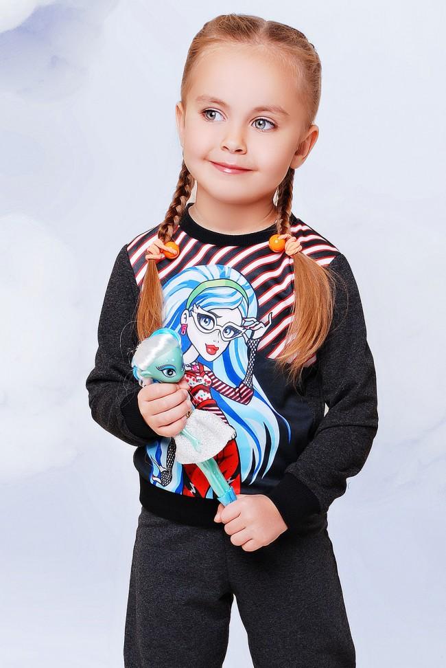 """Свитшот """"Kids"""" KF-096, Monster High Гулия"""
