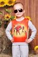 """Свитшот """"Kids"""" KF-106, Суперсемейка принт,светло-серый (Детские свитшоты, #3424)"""