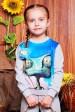 """Свитшот """"Kids"""" KF-125, Ранго принт, светло-серый (Детские свитшоты, #3481)"""