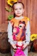 """Свитшот """"Kids"""" KF-130, Маша и медведь принт,светло-серый (Детские свитшоты, #3496)"""