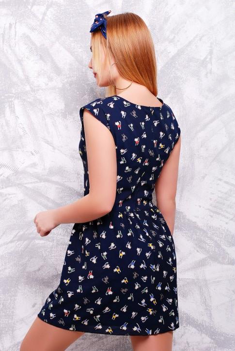 """Легкое летнее платье глубокого синего цвета - """"Kristy"""" PL-1307B (фото 2)"""