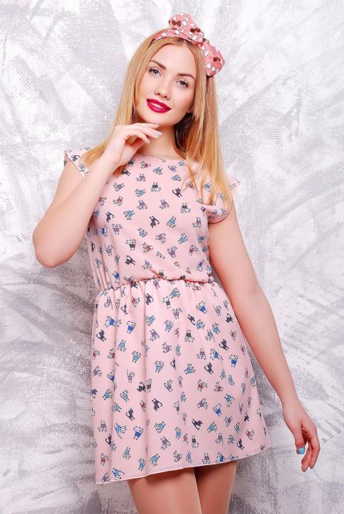 """Милое платье  бледно розового цвета - """"Kristy"""" PL-1307C"""