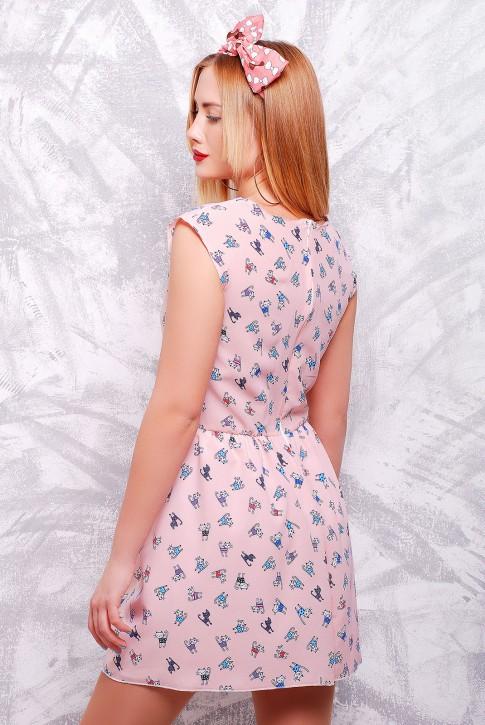"Милое платье  бледно розового цвета - ""Kristy"" PL-1307C (фото 2)"