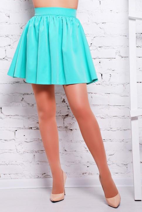 """Стильная юбка ярко-ментолового цвета - """"Jein"""" YB-1310C"""