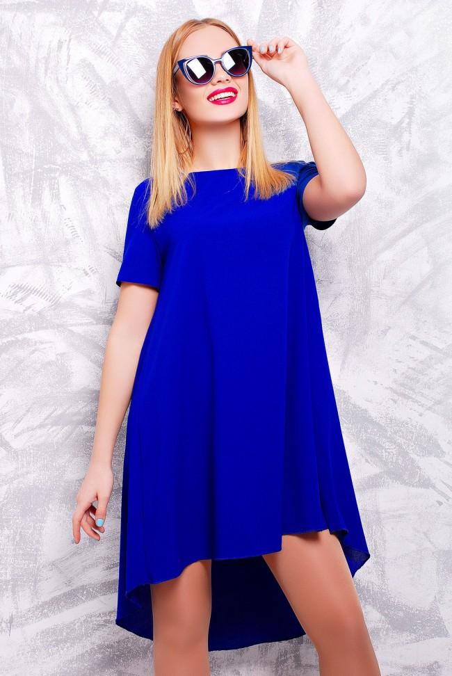 """Стильное ярко-синее платье - """"Tail"""" PL-1317D"""