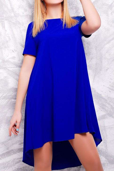 """Стильное ярко-синее платье - """"Tail"""" PL-1317D (фото 2)"""