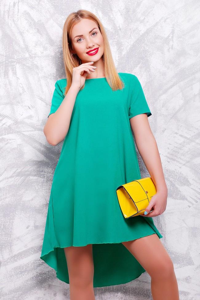 "Красивое платье изумрудного цвета - ""Tail"" PL-1317B"