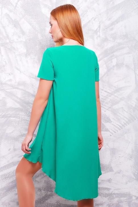 "Красивое платье изумрудного цвета - ""Tail"" PL-1317B (фото 2)"