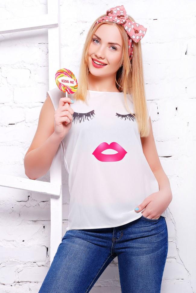 "Стильноя женская футболка от Niko-Opt - ""Classic"" FB-1308J"