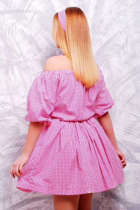 """Изящное летнее платье """"Крестьянка"""" до колен - PL-1306B (фото 2)"""