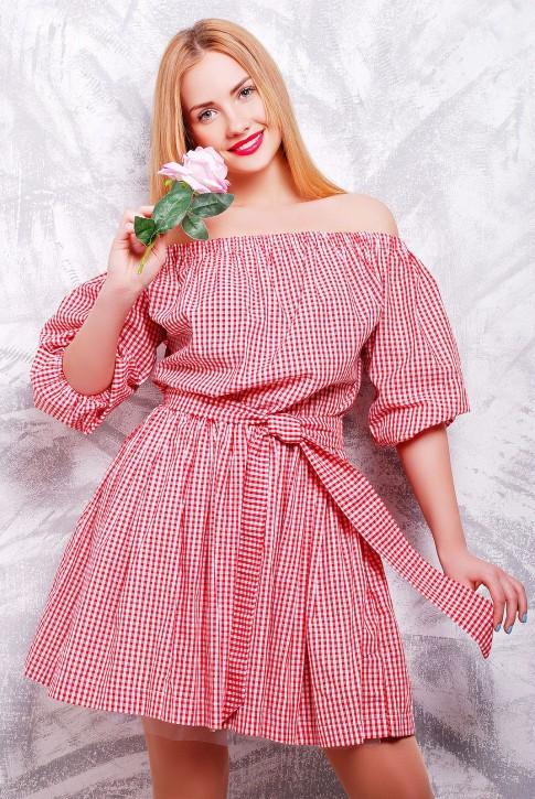 """Романтичное платье из хлопка - """"Крестьянка"""" PL-1306C"""