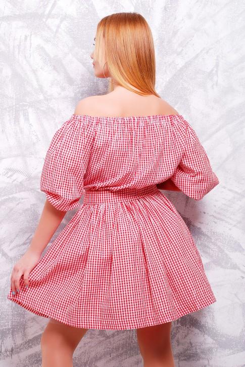 """Романтичное платье из хлопка - """"Крестьянка"""" PL-1306C (фото 2)"""