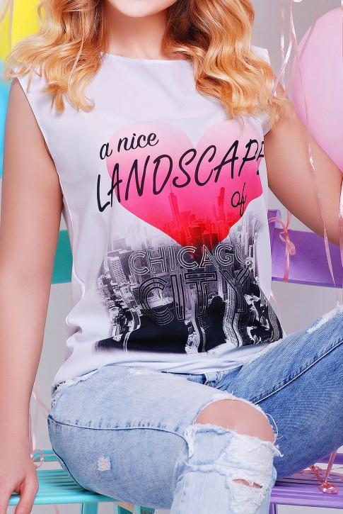 Женская футболка с принтом CHICAGO оптом (фото 2)