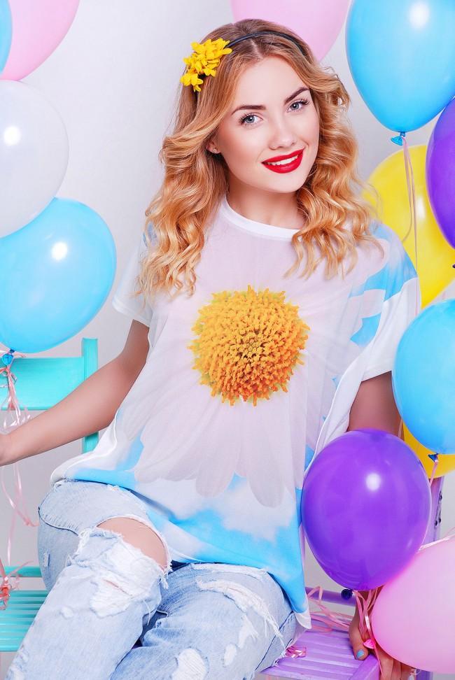 "Красивая солнечная футболка - ""Air"" FB-1140R"