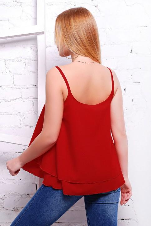 """Стильная женская майка бордового цвета - """"Straps"""" FB-1316G (фото 2)"""