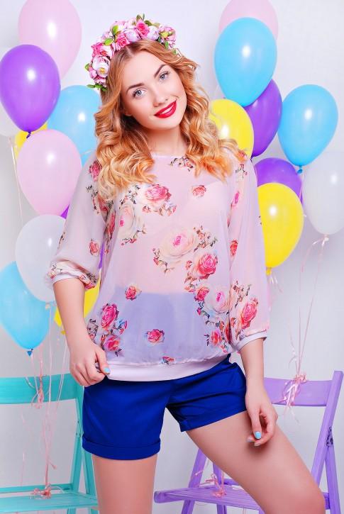 Блузка из шифона 2016, цвет пудра