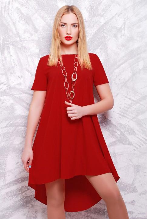 Бордовое платье с шлейфом