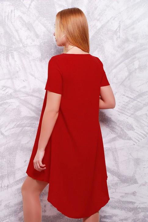 Бордовое платье с шлейфом (фото 2)