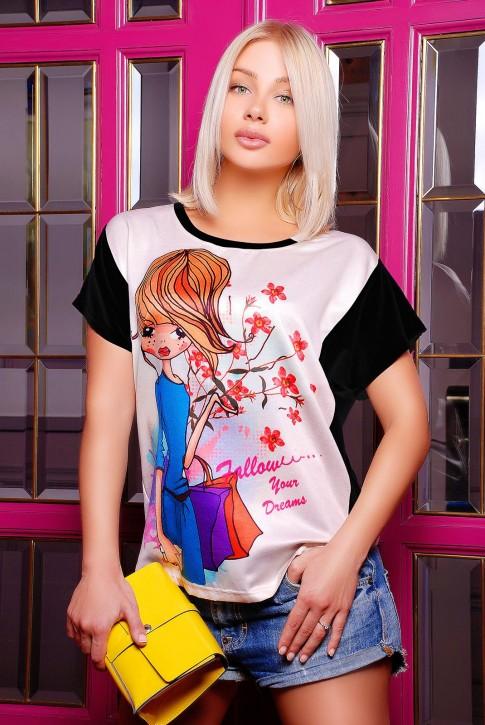 """Яркая женская футболка """"Air"""""""