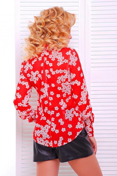 Ярко-красная женская рубашка RB-1228D (фото 2)