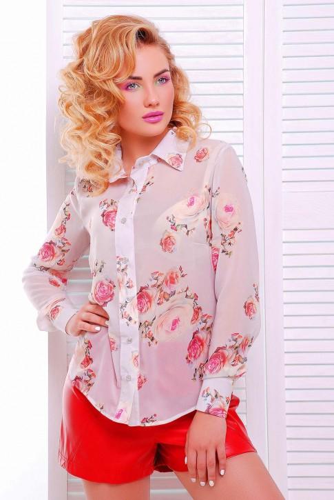 """Нежно розовая женская рубашка """"Классика"""" RB-1228F"""
