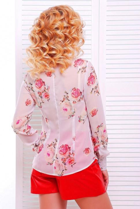 """Нежно розовая женская рубашка """"Классика"""" RB-1228F (фото 2)"""
