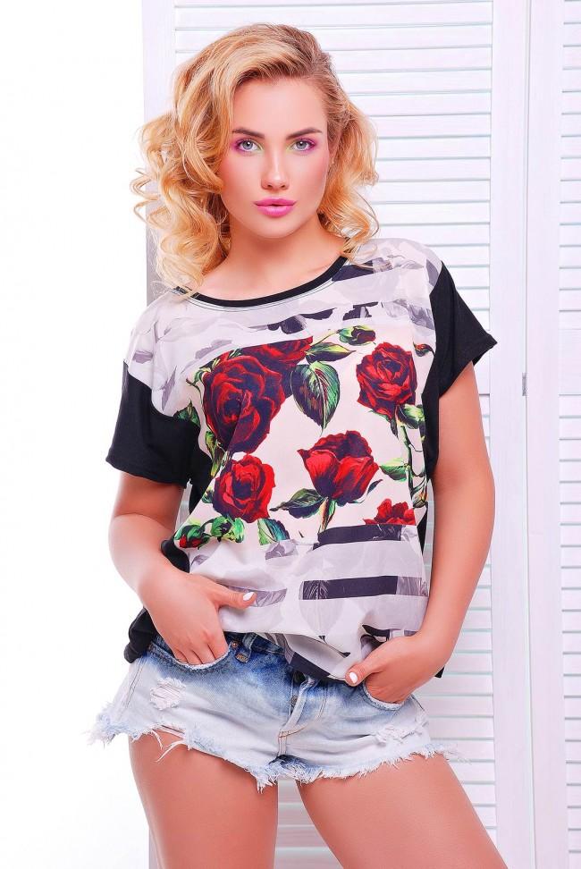 """Стильная женская футболка оптом - """"Air"""" FB-1346F1"""