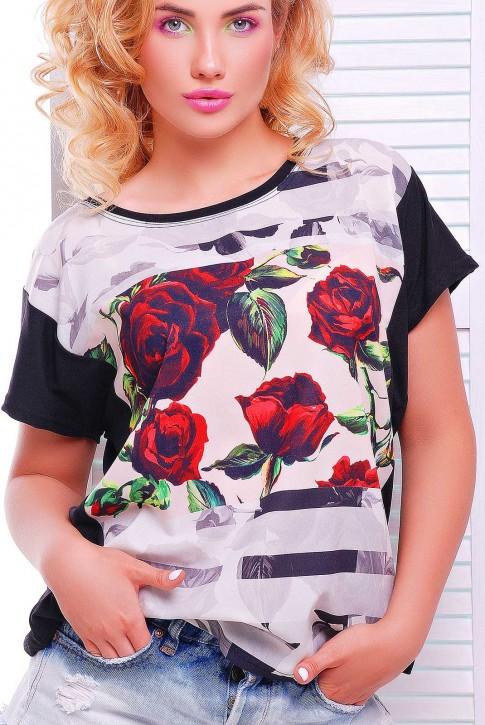 """Стильная женская футболка оптом - """"Air"""" FB-1346F1 (фото 2)"""