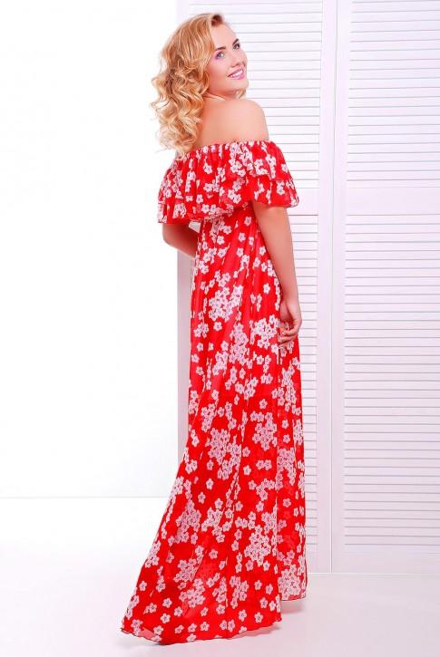 Модный сарафан из красного шифона (фото 2)