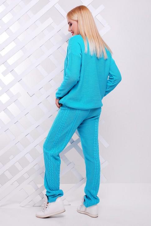 "Вязаный костюм мятного цвета - ""LILI"" SKV0002 (фото 2)"