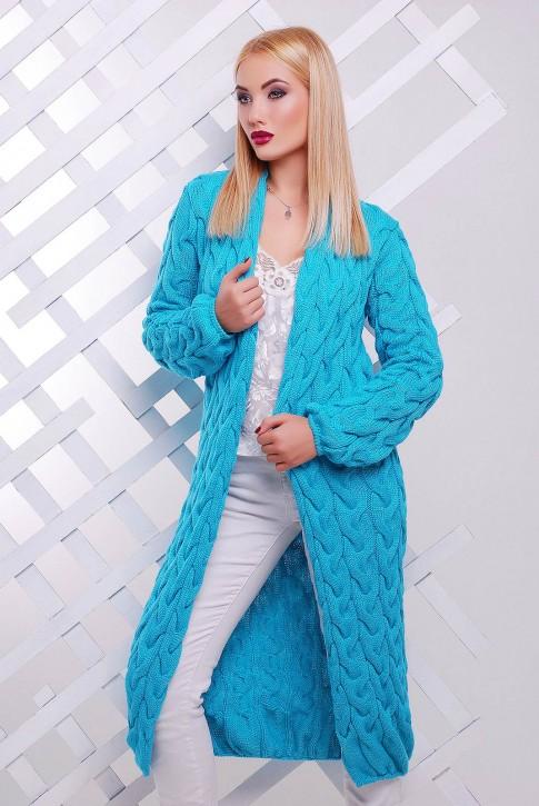 Мятный длинный женский кардиган Лало VKD0006