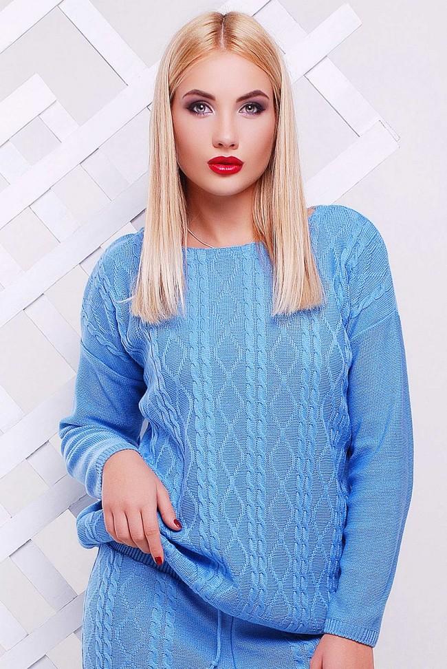 """Голубой свитер """"LILI"""" SVV0001"""