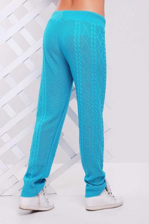 Вязаные штаны мятного цвета - SHV0002 (фото 2)