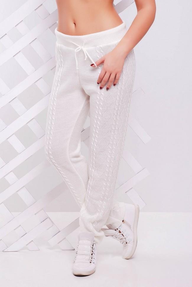 Белые вязаные штаны - SHV0004