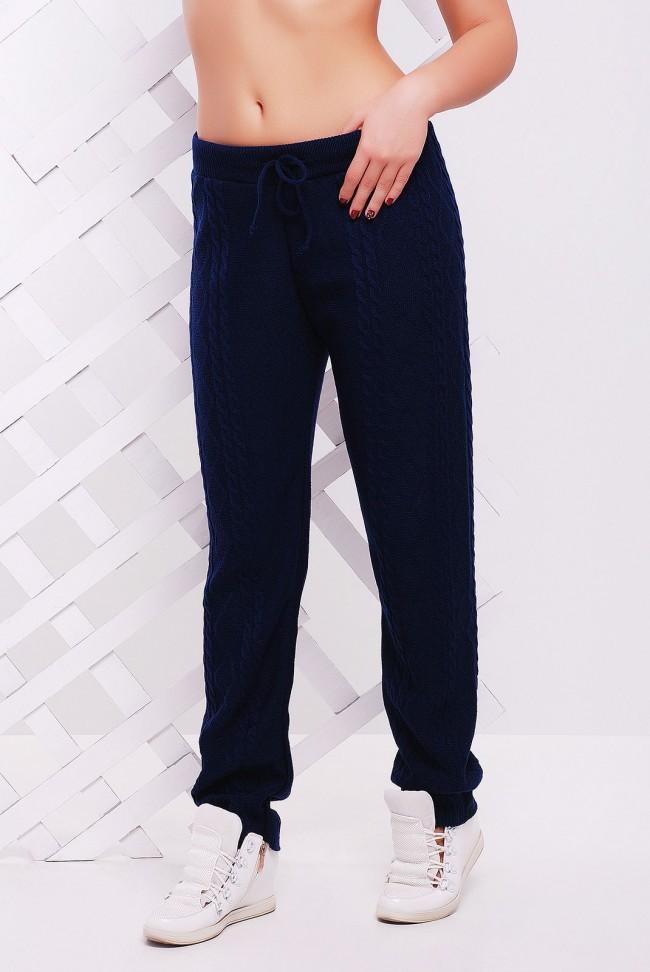 Темные вязаные штаны для прохладной осенней погоды - SHV0006