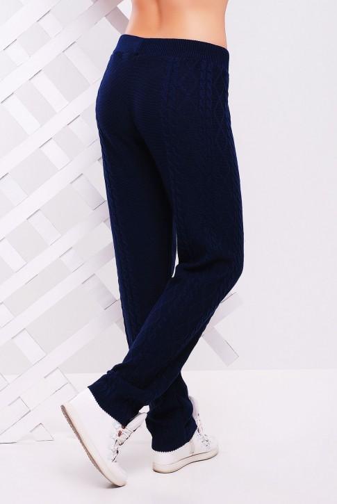 Темные вязаные штаны для прохладной осенней погоды - SHV0006 (фото 2)