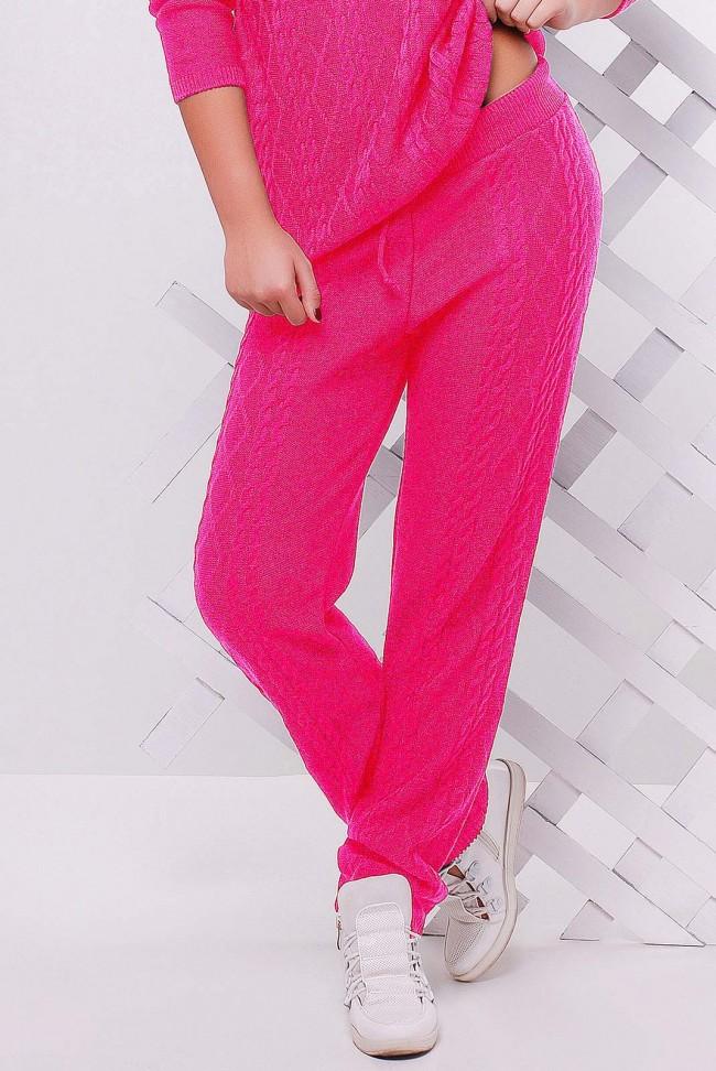 Яркие вязаные женские штаны - SHV0012