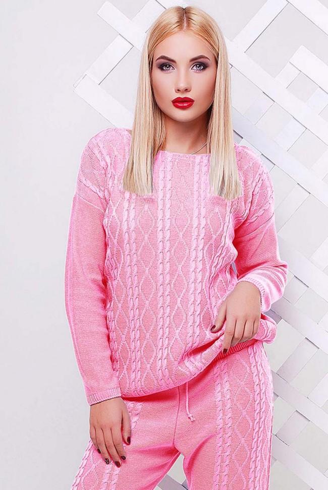 Свитер светло розовый женский - SVV0011