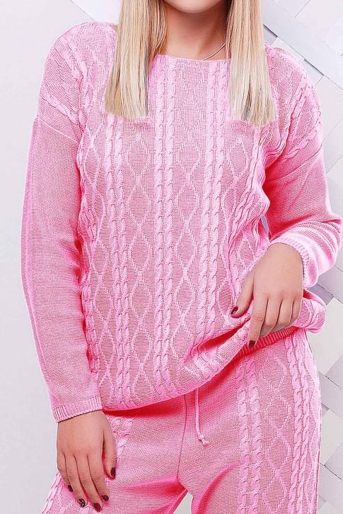 Свитер светло розовый женский - SVV0011 (фото 2)