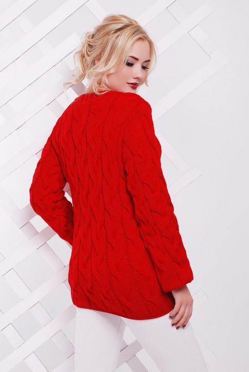 """Красный свитер женский фото - """"LOLO"""" SVV0016 (фото 2)"""