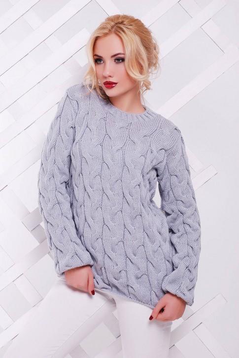 "Светло-серый свитер женский - ""LOLO"" SVV0018"