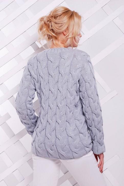 "Светло-серый свитер женский - ""LOLO"" SVV0018 (фото 2)"