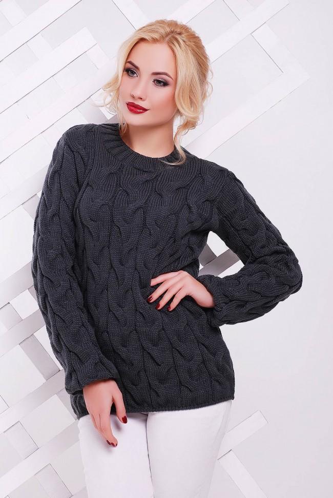 Женский свитер серого графитового цвета от Niko-Opt - SVV0020